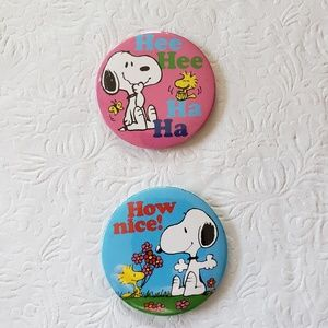 Snoopy hand held mirrors